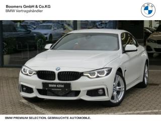 BMW 420d M Sport Cabrio EU6d-T Leder LED Navi Keyless Kurvenlicht HUD Rückfahrkam. El. Verdeck - Bild 1